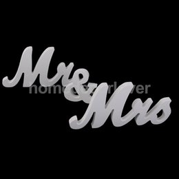 wholesale mr mrs wedding letters white wooden standing sign freestanding decoration