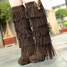 Discount Long Fringe Boots | 2017 Long Fringe Boots on Sale at ...