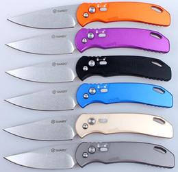 Ganzo Firebird 7582AL F7582AL faca dobrável de caça G7582AL-OR F7582AL-PL F7582AL-BK F7582AL-BL F7582AL-CG F7582AL-GY Punho de alumínio