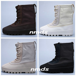 Wholesale Adidas Yeezy Boosts Boost Kanye West Yeezys Shoes High Boots Duck Boot Color Peyote Moon Rock Women Men Sneaker Moonrock Trainers