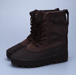 Wholesale with Original Box Adidas Yeezy Boot Peyote Moonrock Chocolate Pirate Black Boots For Women Men Kanye West Shoes Classic Sports Sneaker