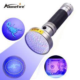 1PC AloneFire Super 100UV LED Light 395-400nm LED lampe torche UV pour 6xAA batterie