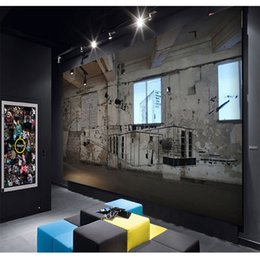 Free Shipping 3d Stereo Custom Custom Black White Sketch Graffiti Wallpaper Coffee Shop Tea Shop Lounge Bar Ktv Wallpaper Mural