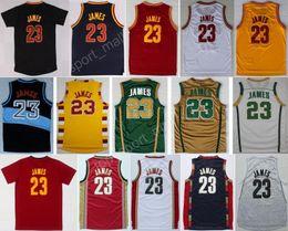 Wholesale Más caliente LeBron James Jerseys de baloncesto Hombres St Vincent Mary High School Irlandés Película TUNESQUAD Retroceso Azul Blanco Verde Marrón Rojo Negro