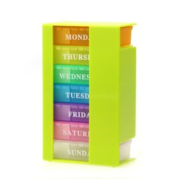 online shopping Colorful Pill Box day Week Medicine Tablet Drug Holder Storage Box Pillbox Case Organizer Container