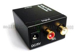 2017 NEW Цифровой оптический Adaptador коаксиальный RCA Toslink сигнал аналоговый аудио конвертер кабель переходники DHL освобождает перевозку груза MYY