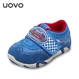 uovo unique car design for little kids shoes toddler boys shoes racing sneakers nonslip wearable 23 27
