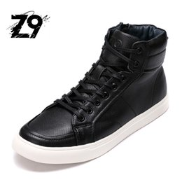 Wholesale- 2016 New Hot Quality Men Shoes Top Fashion Front zip Casual Ankle Boots Autumn air mesh Leather Men Shoes cheap zip front boots from zip front boots suppliers