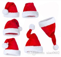 2017 baby adult cap hat Christmas holiday party Decoration hats Xmas caps Santa Claus hat adults children kids baby Christmas Cosplay Hats gift new