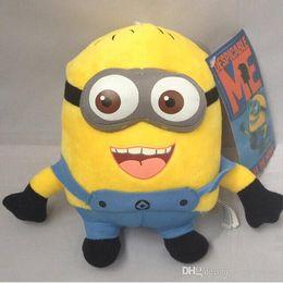 2017 stuffed minion Free Shipping Cheap Despicable Me Minions Plush Stuffed Toys 25 3D Eyes Minions Doll Yellow Kid Birthday Gift cheap stuffed minion