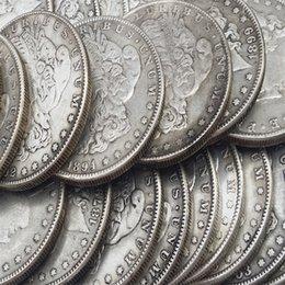 Monnaies US dollars morgan 5 pièces (1878cc, 1879cc, 1889cc, 1893S, 1894)