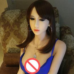 Wholesale Muñecas del sexo de la vida real cm vagina y pecho puros del silicón muñeca humana verdadera esqueleto del metal tienda del sexo de los productos adultos maniquíes de agujeros