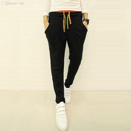 Wholesale New Stylish Contraste Color Flasques Hip Hop Harem Pantalons Hommes Running Sport Pantalons Mens Outdoor Sweatpants Black Skinny Joggers