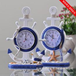 Wholesale New Home Furnishing Ornaments Wooden Crafts A Mediterranean Watch The Pendulum Desk Clocks