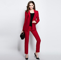 Discount Women Trouser Work Suit | 2017 Women Trouser Work Suit on ...