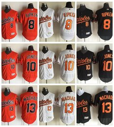 Discount brown baseball jerseys 2017 Baltimore Orioles Baseball Jerseys Flexbase 10 Adam Jones 13 Manny Machado Cool Base 8 Cal Ripken Jr Stitched Cheap Baseball Jersey