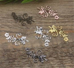 online shopping 100 MM Colors European Flower Connector Charms Brass Material DIY Jewelry Vintage Pendant Charms