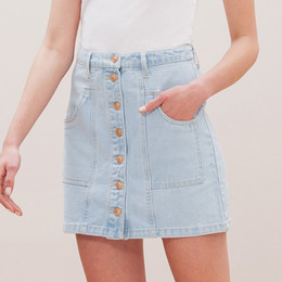 Discount Denim Skirt Knee Light | 2017 Denim Skirt Knee Light on ...