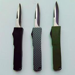 online shopping mini microtech Key buckle knife aluminum green black carton fiber double action gift knife xmas knife
