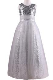 2017 Sequins Tulle diseñador flor vestidos de niñas Jewel Ball Gown piso longitud niñas vestido de vestidos de los niños vestidos de baile