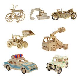 discount kids model car kits 7 styles 1pc car models 3d wooden jigsw puzzle kid educational