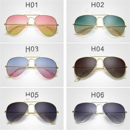 discount designer frames for wholesale vintage branded metal frame for men women designer gradient sunglasse lens