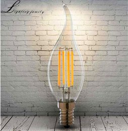 2017 candle light bulbs screw LED Tungsten Filament Bulbs Edison LED Candle  Light LED Bulb Restoring