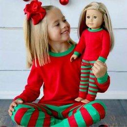 Мальчик девочка Рождество Пижама наборы Свободный DHL 2016 новых детей нашивки хлопка с длинным рукавом + брюки 2pcs костюмах Одежда для младенцев Главная Одежда наборы