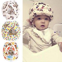 Discount baby protector cap 2016 Newest Baby Kids Walking Safety Helmet Headguard Head Protector Hats No Bumps Adjustable Warm Caps Hats YX#