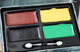 2017 camouflage paint colors cs military wargame four colors paint face camouflage camo skin oil kit - Camo Paint Colors