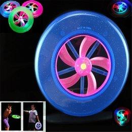 online shopping 50pcs Kids Toys LED Luminous Frisbee Flying UFO lights rotating flywheel Flashing Frisbee Outdoor Sports Toys For Baby Children