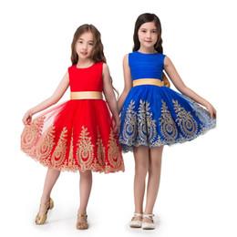 Nuevo vestido de bola de Tulle Sash Apliques vestidos de niña de flor 2017 Entrevista de desfile se adapta a Communion Girl vestido de concurso vestido de cumpleaños de niños CPS306