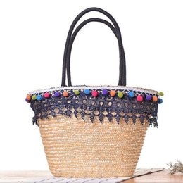 Discount White Straw Beach Bag | 2017 White Straw Beach Bag on ...