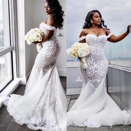 3d flora lace mermaid wedding dresses new designer 2017 elegant off the shoulder backless bridal gowns south african arabic dubai formal discount african