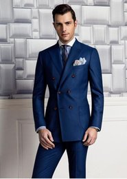 Discount Navy Blue Pinstripe Double Breasted Suit   2017 Navy Blue ...