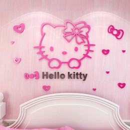 Free Shipping Lovely Hello Kitty Wall Sticker Home Decor Pvc Removable Mural  Decals For Kids Rooms Part 73