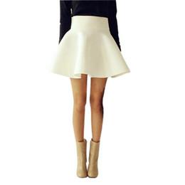Discount White High Waist Skater Skirt | 2017 White High Waist ...