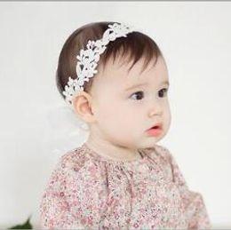 Wholesale El nuevo algodón blanco de las muchachas de Bebe del bebé de los niños de la manera sale de la forma de los accesorios de la venda del pelo de las vendas de Headwear de la cabeza de la forma YH650