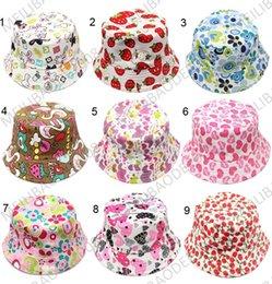 30 colores de la nueva moda bebé sunhats Niños cubo sombrero niños flor casquillos casuales HSA0506