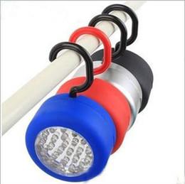 24 LED que acampa la linterna ligera que acampa de la linterna de la lámpara que cuelga la luz Clip-on 24LED del envío libre LLFA