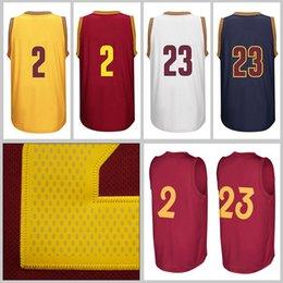 Hommes adulte # 23 Lebron James Jersey 2 Kyrie Irving Jersey jersey de Noël chemises de broderie de haute qualité Livraison gratuite