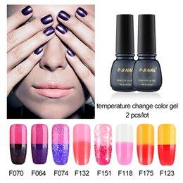 Wholesale RS ml Nail Gel Thermo Varnish Temperature Change Nail Fashion Color UV Polish Gel For Nail Soak Off Gel Polish