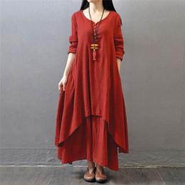 Plus size linen maxi dresses
