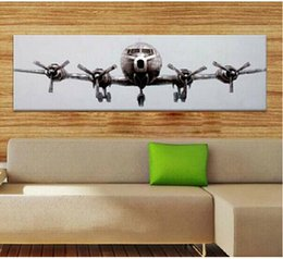 Discount airplane panel Airplane Art ,genuine Hand Painted Modern Wall Decor Art Oil Painting On Thick Canvas Multi Size al-TOPE