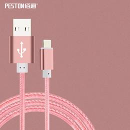 Métal tressé USB SYNC chargeur de câble de données pour iPhone 5 5S 6 6S 7 7Plus