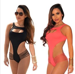 Discount bikini bodies 2017 European And American Style Ladies One-Piece Swimsuit Belt Bikini Halo Style Black Pink Swim Wear