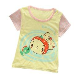 Camiseta bonita de la historieta de los niños Camiseta corta encantadora unisex de la impresión linda del estilo de la corto-manga para la ropa del desgaste del verano de los niños