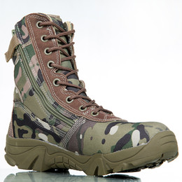 2017 Outdoor Sport Army Bottes Tactiques Hommes Chaussures de combat Hommes Chaussures de cuir Bottes Enthousiaste Marine Chaussures