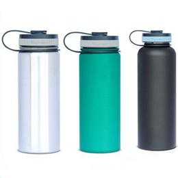 Hydro Flask Bouteille d'eau sans logo 304 Acier inoxydable Double paroi Rambler Tumbler Gardez cool garder chaud Large bouche Drop expédition