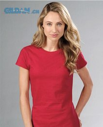 2017 wholesale shirts for summer Wholesale-2015 High quality 100% cotton t-shirt women short sleeve t-shirts o-neck Causal tight t shirt Summer tops for women Top Tees wholesale shirts for summer for sale